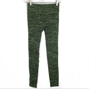 One5One Green Ribbed Knit Leggings
